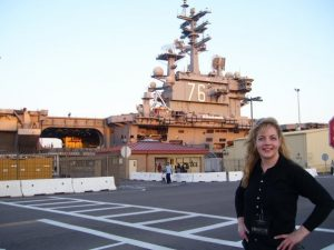 Michele Buc on USS Ronald Reagan